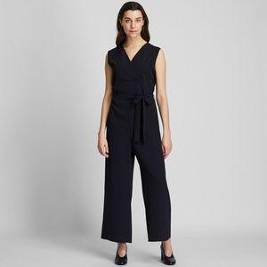 Uniqlo Women's Drape Jumpsuit Black Medium NWT